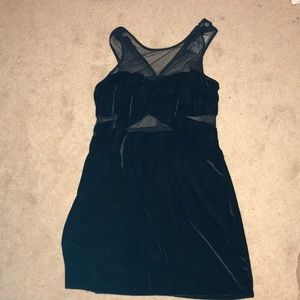 Black velvet and lace dress
